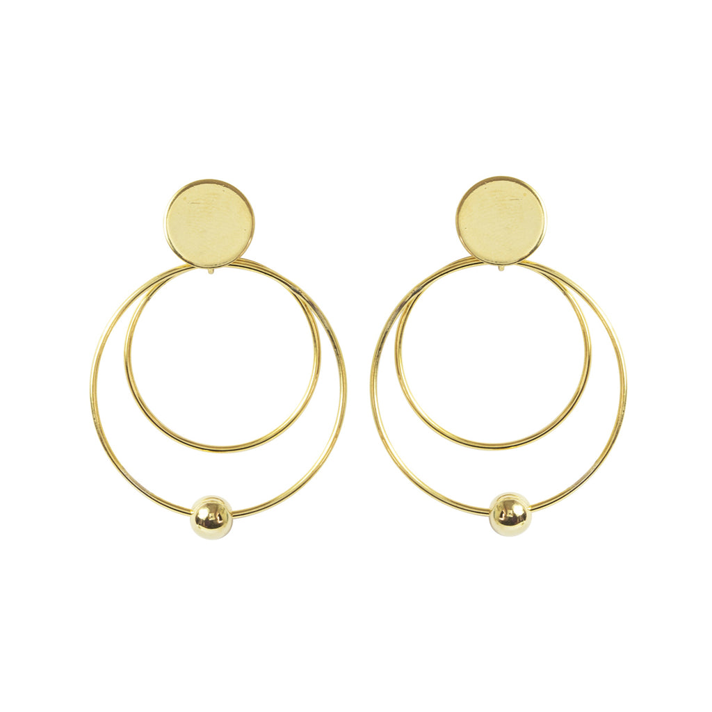 Circle And Ball Earring