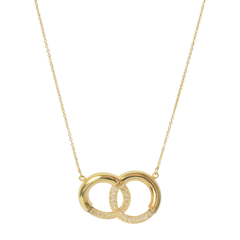 Picture of Mesh Hoop Short Necklace - Gold