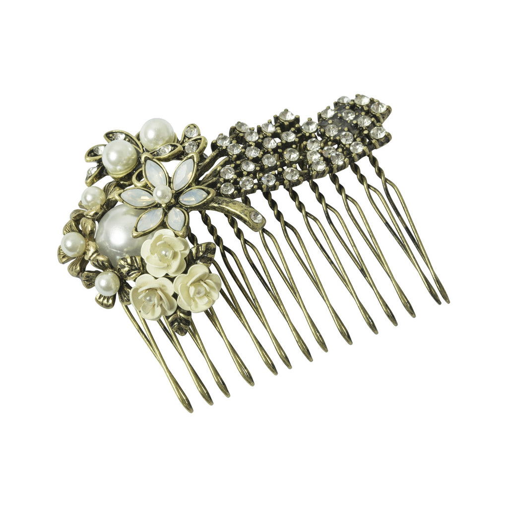 Miriam Haskell Pearl Hair Comb