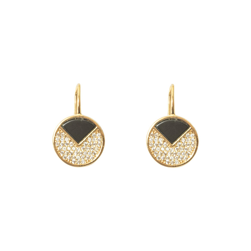 Picture of Onyx Circle Earring