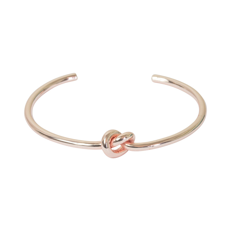 Picture of Single Row Knot Bangle - Rose Gold