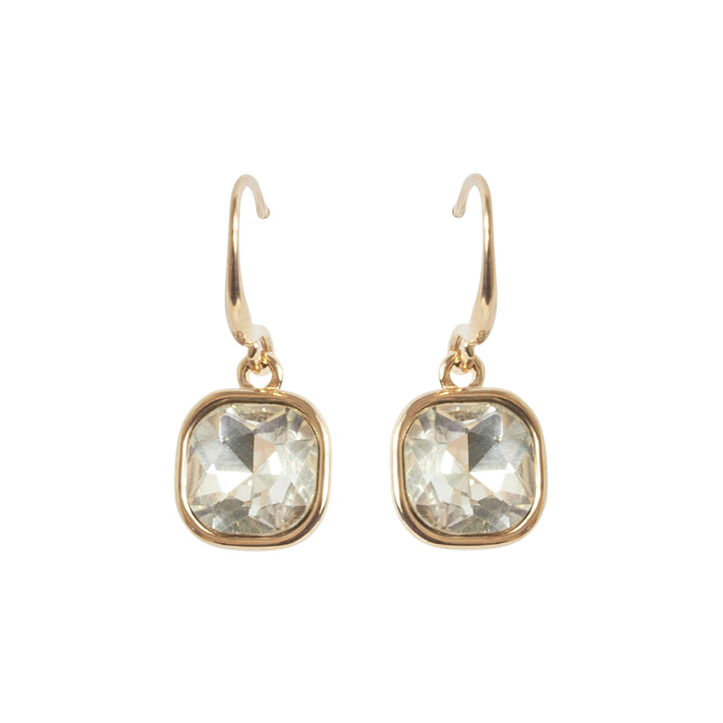 Picture of Square Cut Drop Earring - Rose Gold