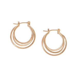Picture of Triple Layer Hoop Earring-Gold