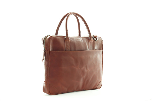 Explore Laptop Bag Single Cognac