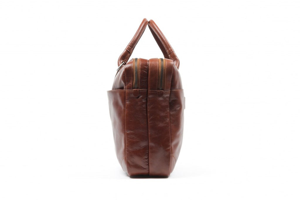 Explore Laptop Bag Double - Cognac