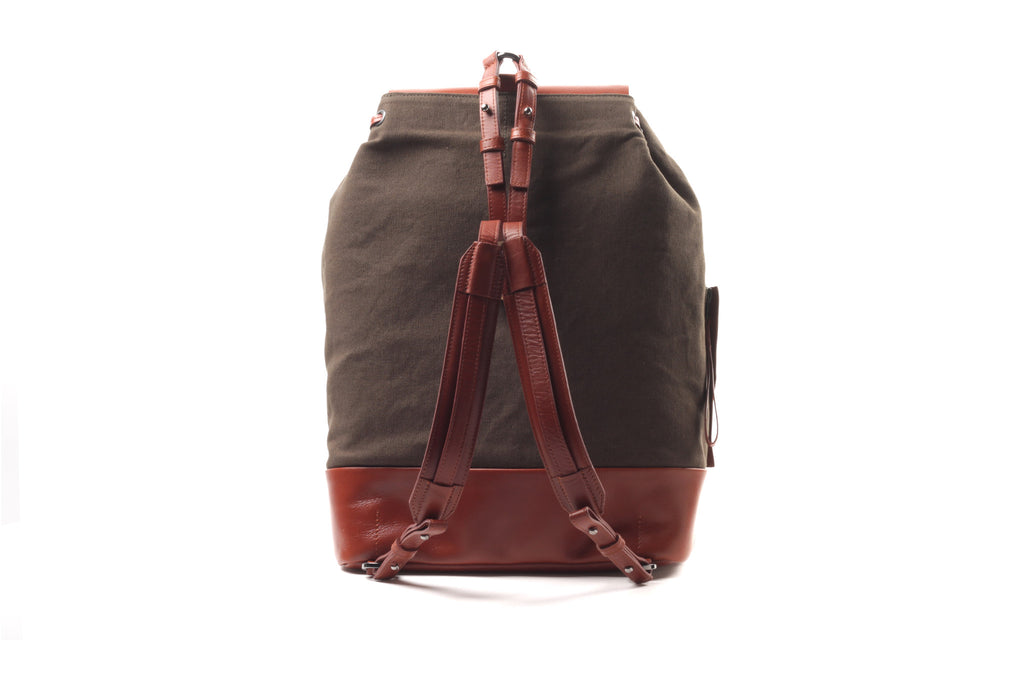 Backpack Canvas - Twisted Oliven