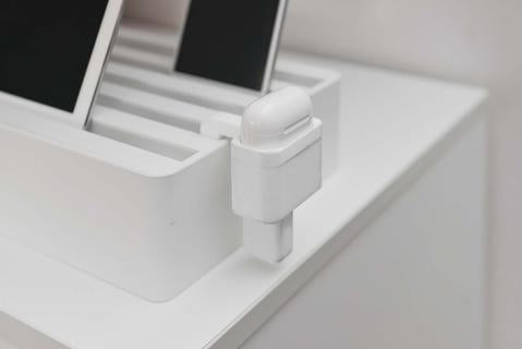 ALLDOCK Apple AirPod holder, Sort