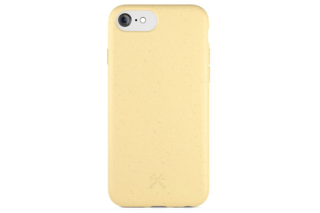 Biocase iphone 6/7/8/se gul fra woodcessories fra coverme