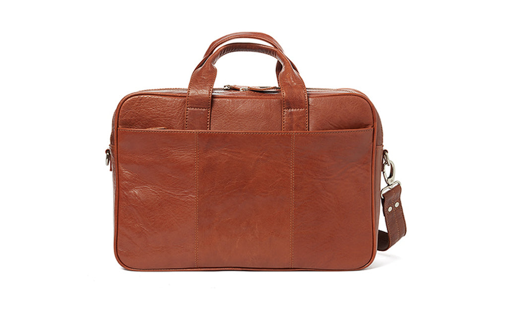Corium Double Laptop Taske - Cognac Macbook Tasker