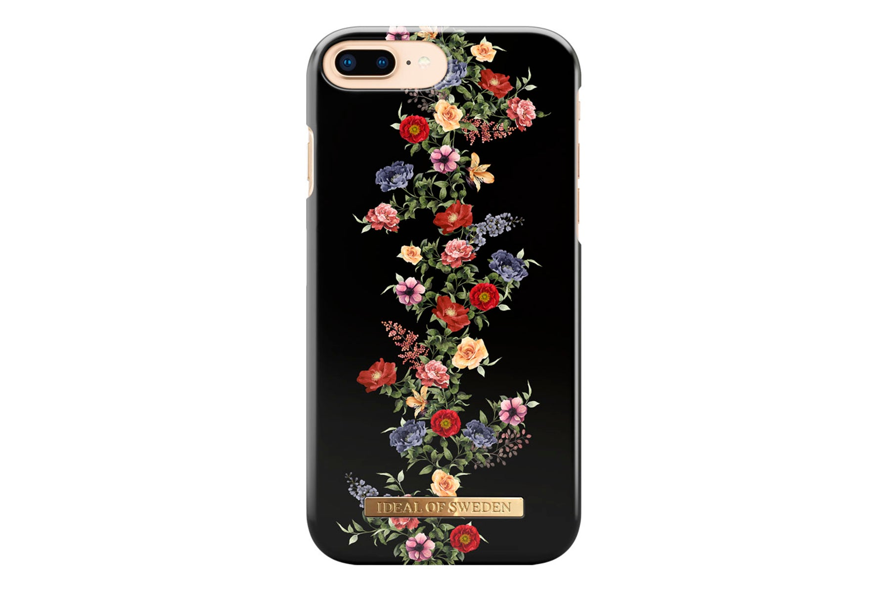 Ideal dark floral iphone 6/6s plus, 7/8 plus fra ideal of sweden på coverme