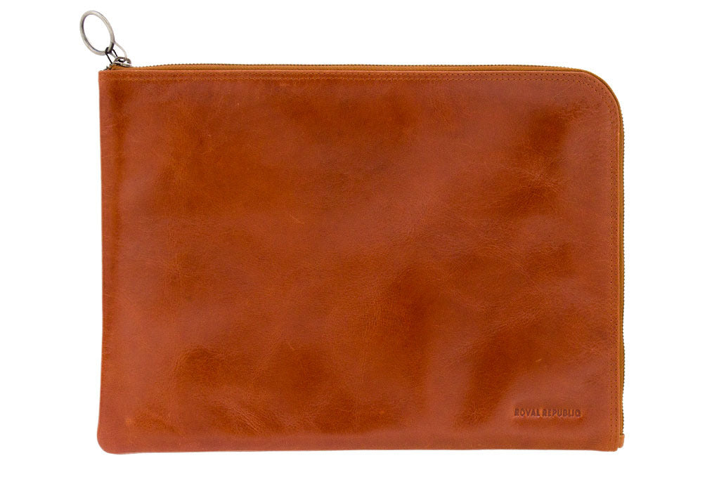 Thin Laptop Cover - Cognac 15.4""