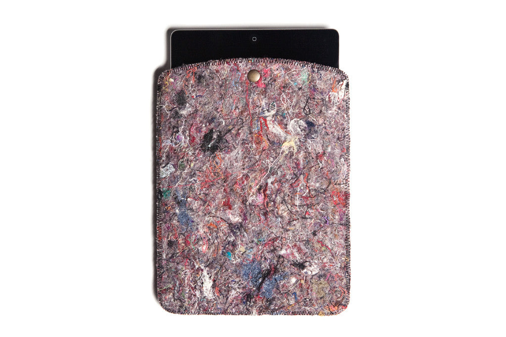 Image of   Recycling Filt iPad cover - Grøn