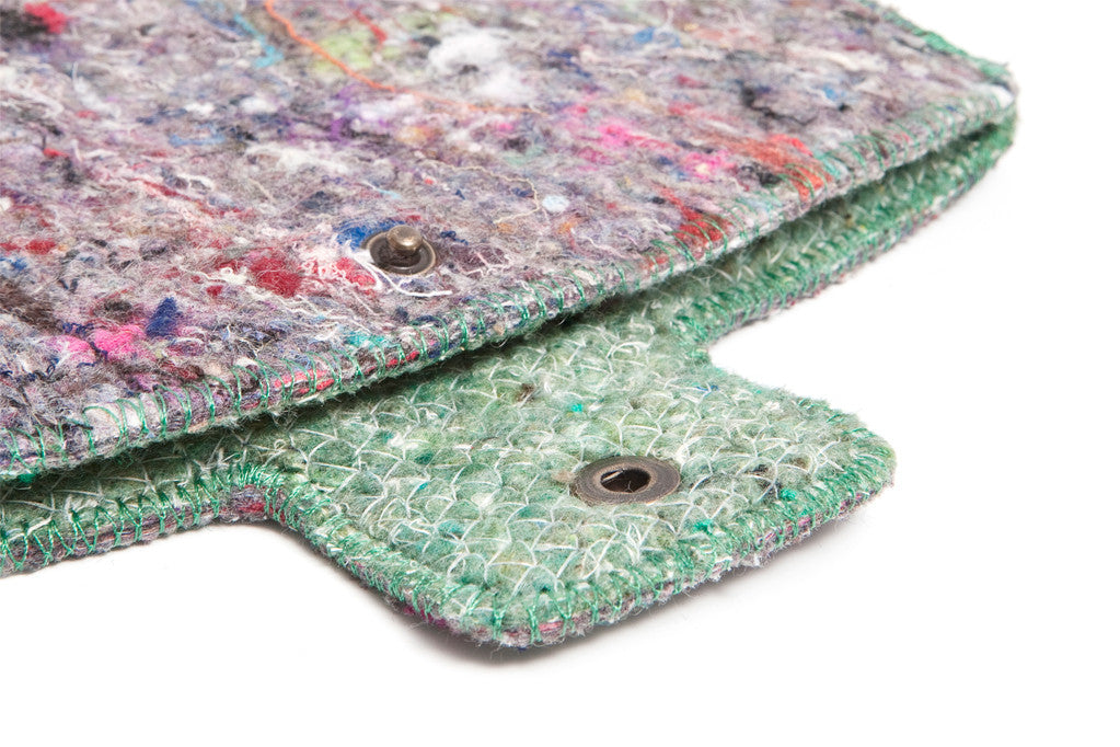 Recycling Filt iPad cover - Grøn