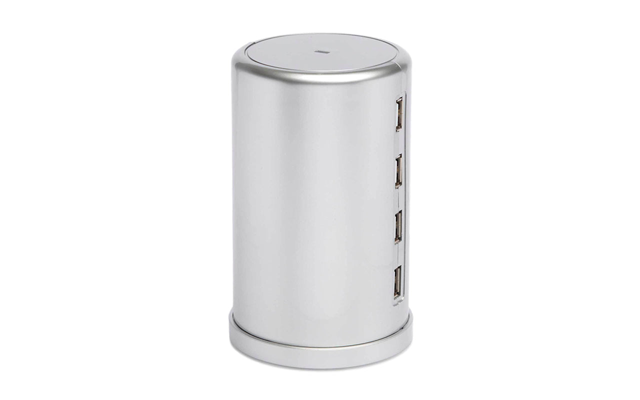 Image of TOWER - 8 PORT SILVER