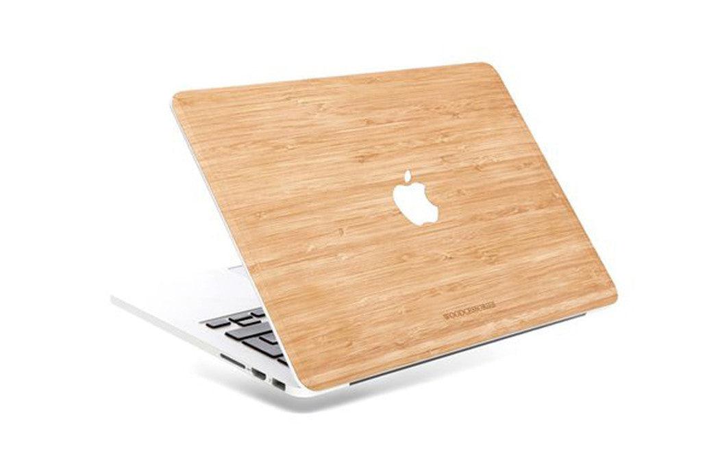 """woodcessories – Macbook 12"""" ecoskin cover bambus på coverme"""