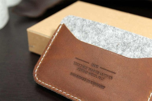 Keswick Card Holder Grå/Cognac