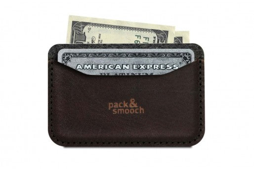 Keswick Card Holder Sort/Brun