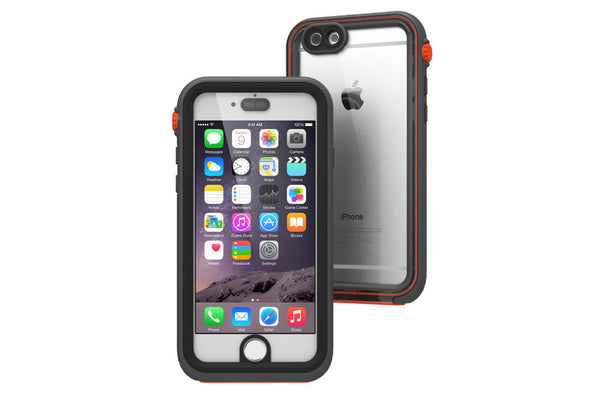 Waterproof Case 6 Plus- Sort/orange