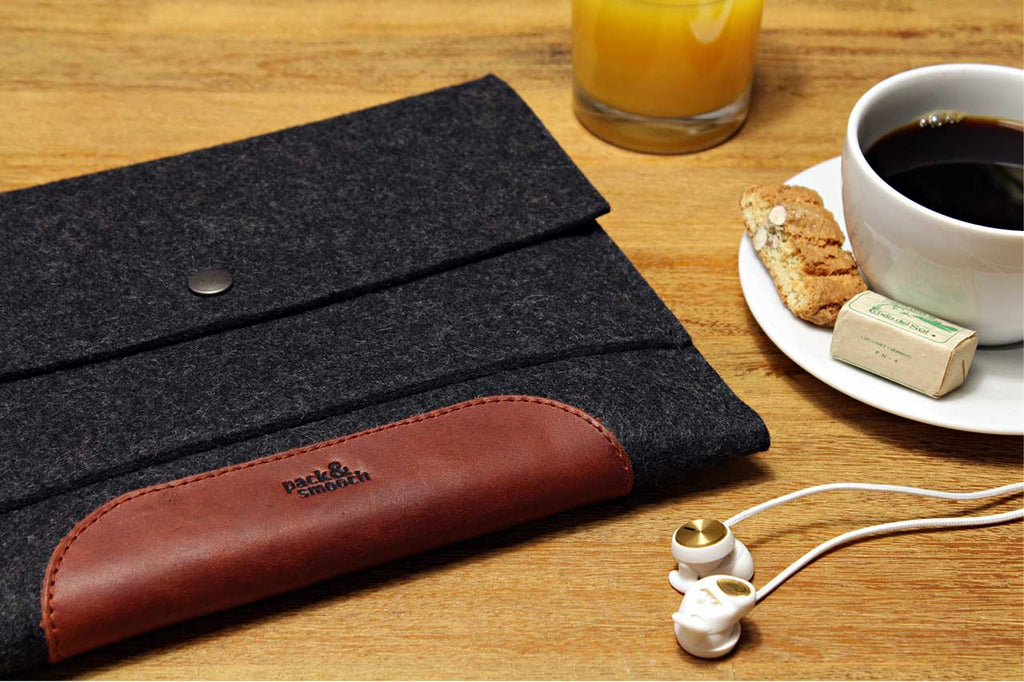 Merino iPad 2/3/4 sleeve Sort