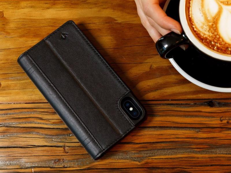 Journal cover til iPhone X/XS Cognac
