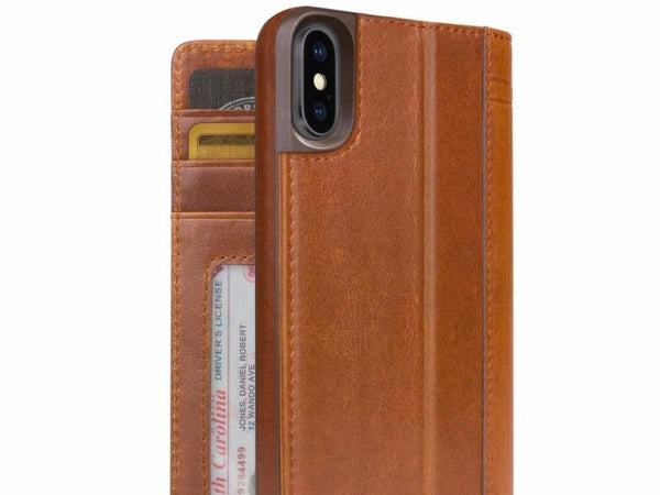 Journal cover til iPhone XR Cognac
