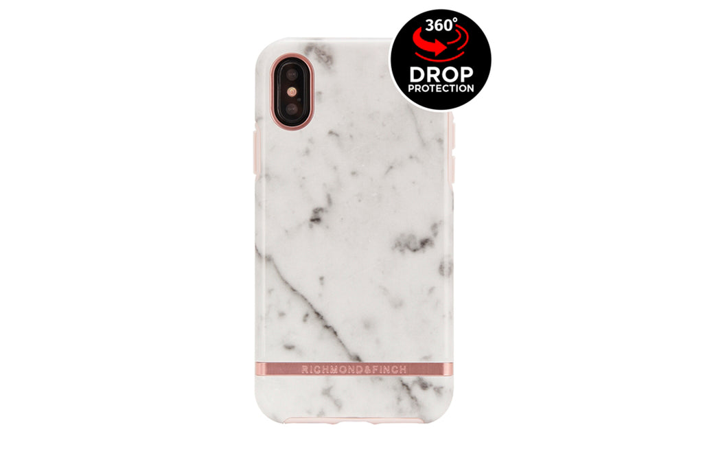 R&F White Marble iPhone X