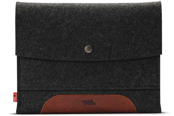 Merino iPad sleeve Sort