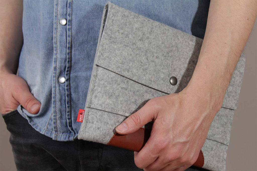 Merino iPad Air sleeve Grå
