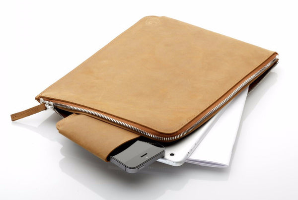 Ipad Zip Sleeve Camel