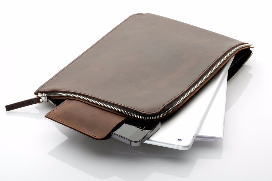 "Macbook 13"" Zip Sleeve Brun"