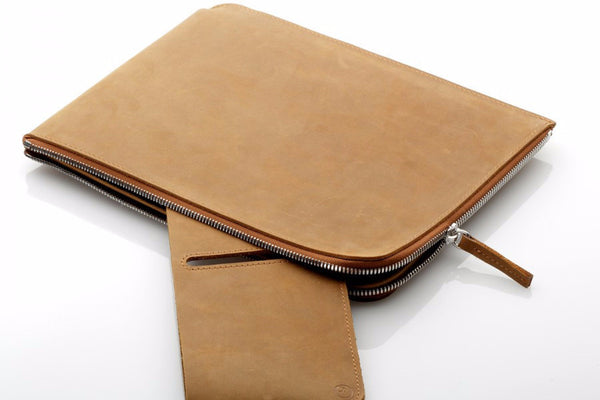 "Macbook 13"" Zip Sleeve Camel"