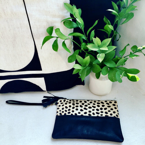 Animal Leather Clutch