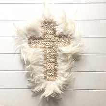 Load image into Gallery viewer, Haven Feather Macrame Wall Hanging