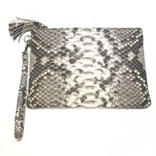 Load image into Gallery viewer, Snakeskin Leather Clutch