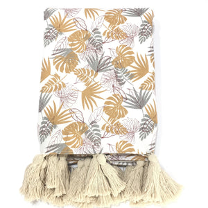 Tropical Golden Throw
