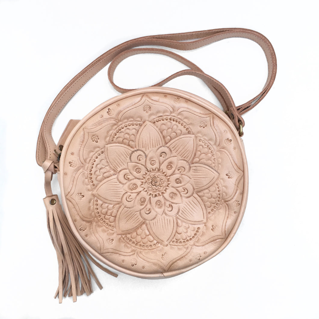 Kendall Round Leather Bag
