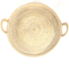 Load image into Gallery viewer, Rattan Round Tray with handles