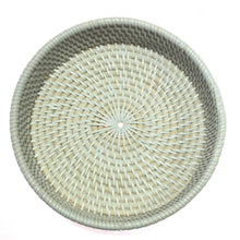 Load image into Gallery viewer, Round Rattan Tray - set of 3
