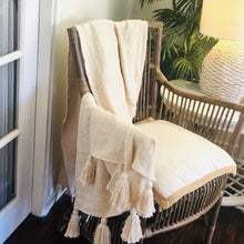 Load image into Gallery viewer, Tahini Natural Fringed Throw