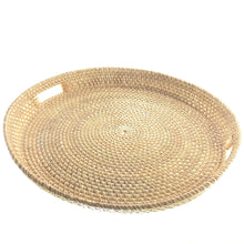 Load image into Gallery viewer, Natural Rattan Hostess Tray