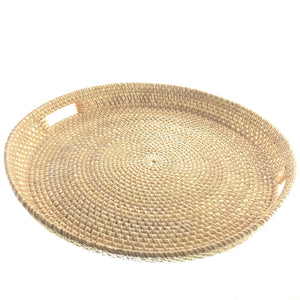 Natural Rattan Hostess Tray