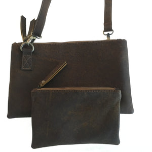 Abbie Leather Crossover Travel Bag