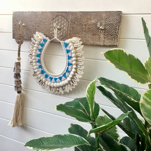 Sky Tribal and Shell Necklace