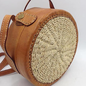 Hip Leather Round Bag
