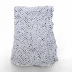 White Crochet Throw