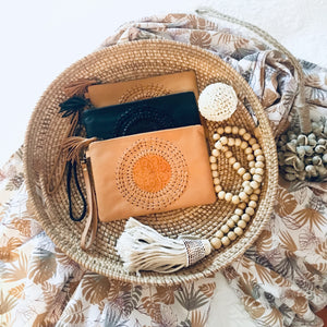 Sahara Leather Clutch