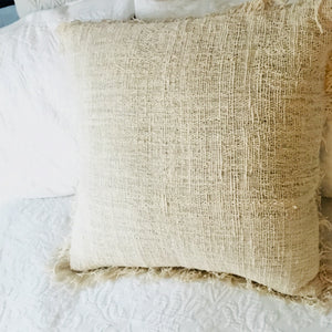 Tahini Raw Cotton Cushion Cover