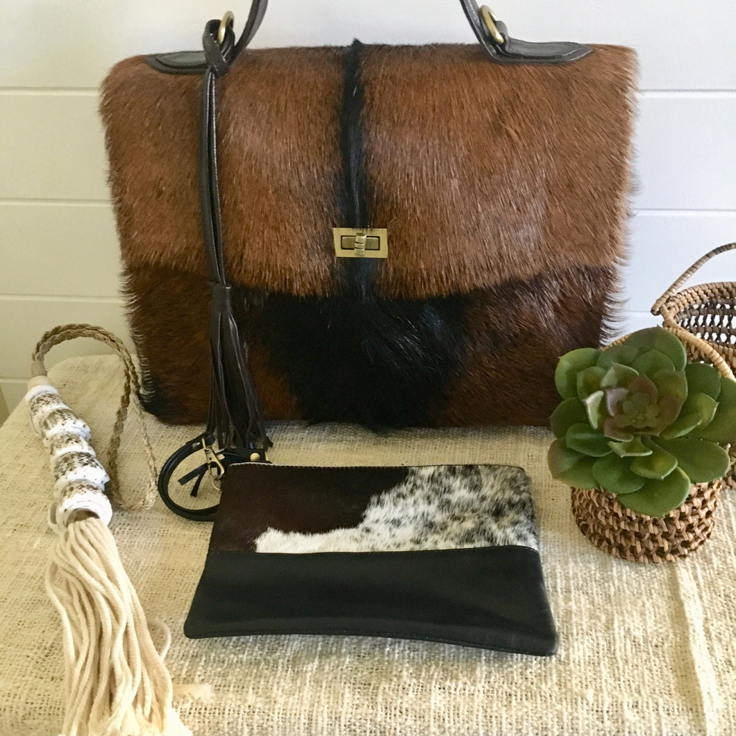 Selma Goat Hair Leather Bag