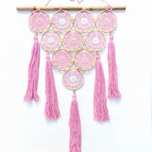 Hand Crafted Pink Dream Catcher