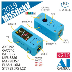 M5Stack New Arrival! StickV K210 AI Camera 64 BIT RISC-V MPU6886 Chip with 16M Flash ST7789 IPS LCD